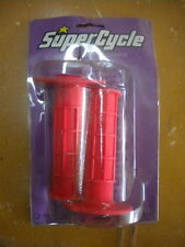 Supercycle Super Cycle BMX MX Red Waffle Competition Grips Appx 20mm 675-1401