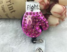 NWT, Breast Cancer *FIGHT GLOVE* , RETRACTABLE BADGE REEL, NAME TAG, $25 Lot /10