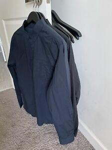 3 Lululemon Recommission Ls Buttondown Large Dress Shirts No Reserve !!