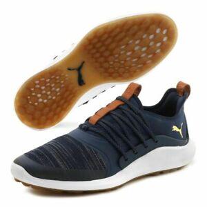 Puma IGNITE NXT SOLELACE Men's Golf Shoes Peacoat Blue Gold 19222402 Size 11.5 M