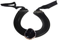 MARINA RINALDI Women's Black Lumia Agate Stone Collar Necklace $235 NWT