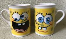 2 SPONGEBOB SQUAREPANTS CERAMIC MUGS CUPS 2010