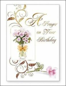 A Prayer on Your Birthday Card Floral Female Christian / Catholic