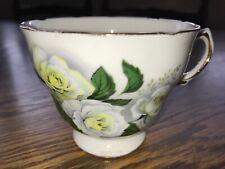 Royal Malvern White Rose Tea Cup Vintage China