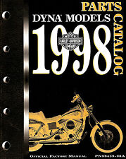 1998 HARLEY-DAVIDSON DYNA MODELS PARTS CATALOG MANUAL -DYNA-FXD-FXDL-FXDS-FXDWG