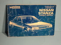 87 1987 Nissan Stanza owners manual
