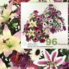 "96 Rose Daisy Lily 31"" Artificial Silk Flowers 051MVPL"