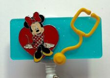 NURSE MINNIE MOUSE PEDIATRIC RN MEDICAL DOCTOR EMT NURSE VET ID BADGE HOLDER
