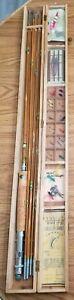 Vintage Vicki White Bear Bamboo Fly Fishing Rod Set, Japan, With 3 Tips (Unused)