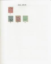 Fiji  81 stamps 1875-1949
