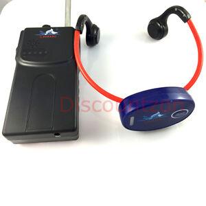 Walkie talkie Transmitter + Waterproof Receiver for Swimming/Snorkeling training