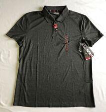 Fila Sport Golf Men Fitted Core Performance Polo Shirt - Dark Gray - XL
