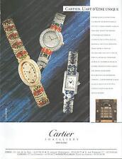 ▬► PUBLICITE ADVERTISING AD Montre Watch CARTIER 2012
