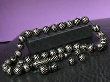 (uV1054)  Elegant Tasbeeh Tasbih Tesbih Masbaha 33 KUKA inlaid Silver beads