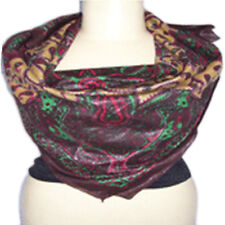 unisex Scarf high quality cotton lurex scarf paisley design