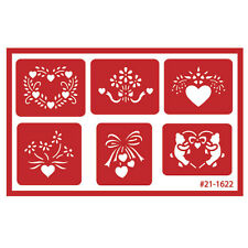 Armour Over n Over Self Stick Reusable Glass Etching Stencils ~ Assorted Hearts