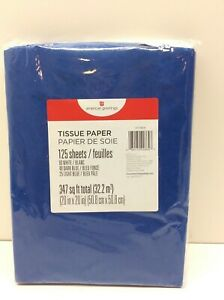 American Greetings Light Blue, Navy Blue and White Tissue Paper 125 Sheets