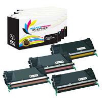 4Pk SPS Lexmark C748 C746 X746 X748 HY Premium Compatible Toner Cartridge