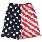 OP Ocean Pacific USA Flag Patriotic 4th of July Swim Trunks Swimsuit L 10-12