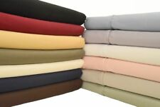 Super Deep Pocket Solid Sheet Set 100% Cotton 600 TC fit up to 22 Inche Mattress