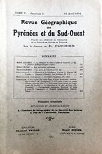 Rev.GEOGRAPHIQUE PYRENEES SUD-OUEST1934-TomeV F2:SOULANE BIROS/CASTRES/BARCELONE