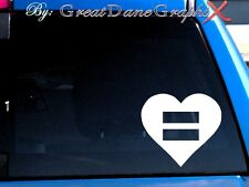 Equality Symbol Heart - Vinyl Car Decal Sticker / Choose Color - HIGH QUALITY