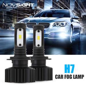 NOVSIGHT H7 Car LED Headlight Bulbs Kit Car Driving Fog Lamps DRL 6000K White