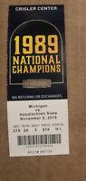 2019 Michigan Wolverines Vs Appalachian State Basketball Ticket Stub Nice