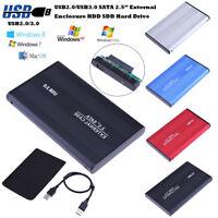 USB 2.0/3.0 SATA 2.5inch Hard Drive External Enclosure HDD SDD Mobile Case Box