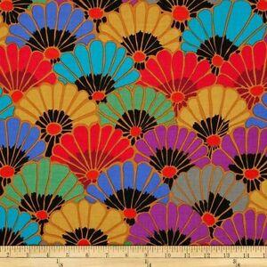 "30"" Remnant Rowan Kaffe Fassett Thousand Flowers Cotton Fabric PWGP144 Dark"