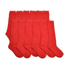 6 12 Pairs Knee High Uniform School Socks Womens Girls Junior Plain Jacquard