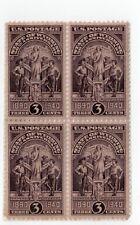 USA  897,Block of 4 3¢  Wyoming Statehood