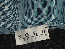 SOLO,Italy SheerPsychobillyPatternFauxSilkVneck Size1240