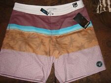 New Billabong brown board shorts mens bathing suit lotides shot leg sz 38