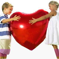 Large Giant Love Heart Foil Helium Balloons 3ft (36 Inch)