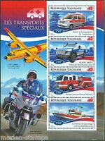 TOGO  2014 EMERGENCY VEHICLES  SHEET MINT NH