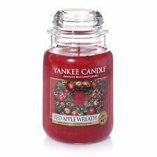 Yankee Candle Large Jar - Red Apple Wreath Xmas Christmas Fragrance