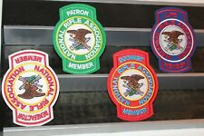 4 NRA National Rifle Association Member Patches Life Endowment Patron Benefactor