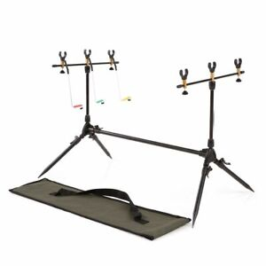 Fishing Rods Stand Holder Adjustable Retractable Carp Pod Fishing Pole Stand New