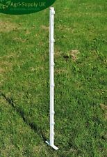 3FT ELECTRIC FENCE POLY POSTS Horse Pony Fencing Stakes White Green 10 20 40 60