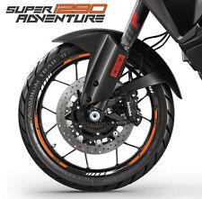 1290 Super Adventure motorcycle wheel decals rim stickers set ktm stripes orange