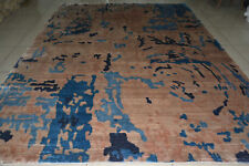 India 270x365 9x12 Hand Knotted Indo Tibet Nepalese Bamboo Silk Carpet Rug Hali