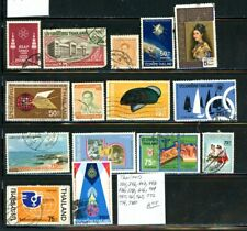 Thailand outstanding selection of 15 used stamps - see list in scan - (Gc)