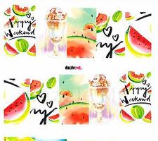 Nail Art Sticker Water Decals Transfers Decorative Art Fruit Melons Love (DC264)