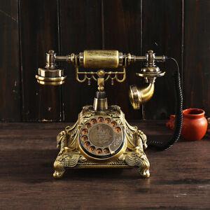 Retro Vintage Antique Telephone Old Fashioned Desk European Style Bronze