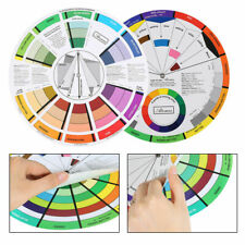 Professional Portable Color Wheel Mixing Guide for Tattoo Makeup Hobby Painting