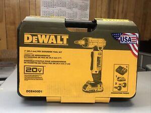 DeWALT DCE400D1 20-Volt MAX 1-Inch Pex Cordless Rotating Head Expander Tool Kit