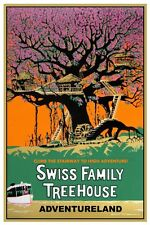 "VINTAGE DISNEY POSTER - ADVENTURELAND SWISS FAMILY TREEHOUSE 8.5"" x 11"""