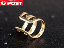 1 x Gold tone Ear Cuff Clip Non Piercing Clip On Earring Wrap Cartilage 3 row