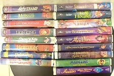 Lot 17 Walt Disney Movie VHS Tapes Family 5 Black Diamond + Sealed Snow White